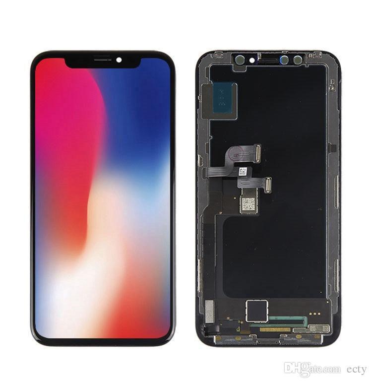 جديد مثالي اللون OEM OLED LCD للحصول على اي فون × لا بكسل القتلى لاستبدال شاشة LCD X فون