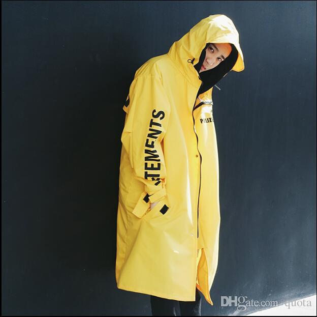 Polizei Adam Ceketler Kapşonlu Yağmurluk Su geçirmez Güneş Koruma Siper Rahat Hi-Sokak Moda Marka Erkekler Giyim