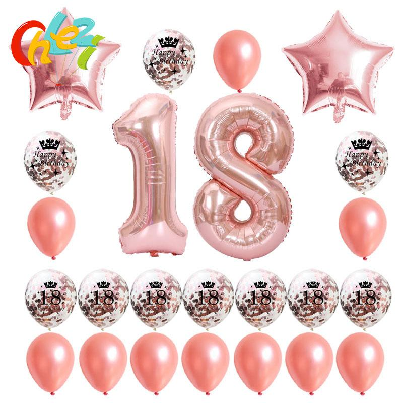 MILESTONE BIRTHDAY Foil Helium Party Deco GOLD SILVER 18 21 30 40 50 Large 40/'/'