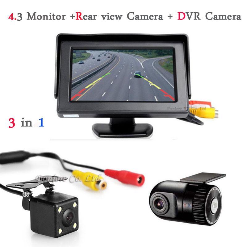 2017 Vehicle Rearview mirror with DVR and camera Car DVRs Camera DashCam Hidden Car DVR Recorder Auto Rear view Radar