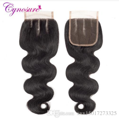 Brazilian Body Wave Lace Closure Natural Color 100% Human Hair Closure 4''x 4'' Non-remy Hairing wefts
