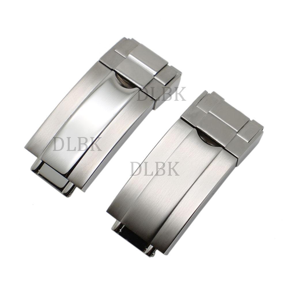 Fermaglio dell'orologio dell'acciaio inossidabile di 16 * 9mm fermaglio d'argento spazzolato / di espansione della fasciatura di aggiornamento intermedio per Rol