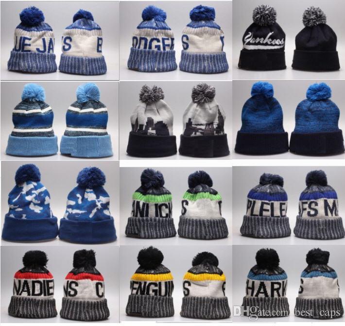 Top Qualität Winter Beanie gestrickte Hüte Sport Teams Baseball Fußball Basketball Beanies Caps Frauen Männer beliebte Mode Winter Caps
