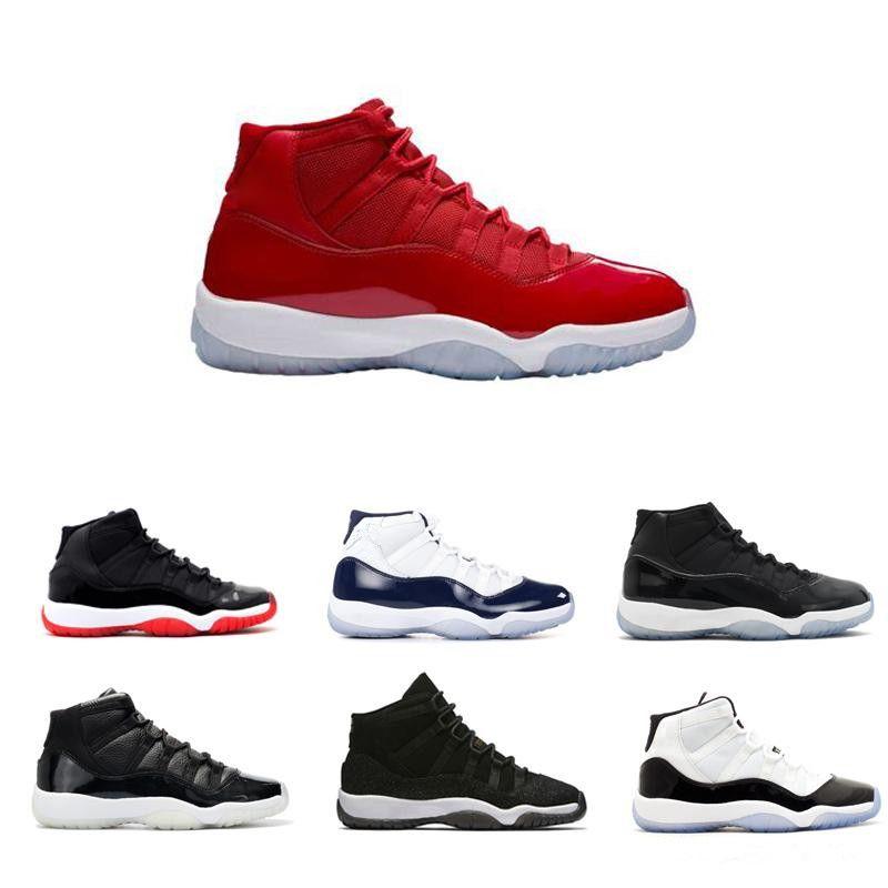 Novità 11 XI Gym Red Chicago Midnight Navy WIN LIKE 82 UNC Space Jam 45 Blackout Mens Scarpe da basket 11s Sport Sneakers