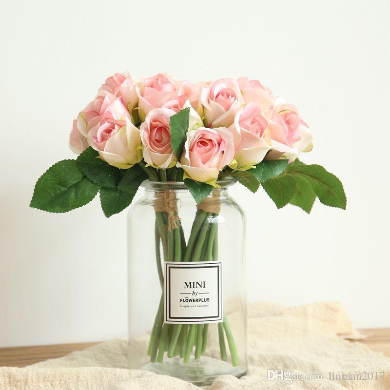لين الرجل الزفاف الاصطناعي روز كوبية زهرة الكرة الزفاف الجدول محور زهرة ballwooden الورود الديكور الداخلي