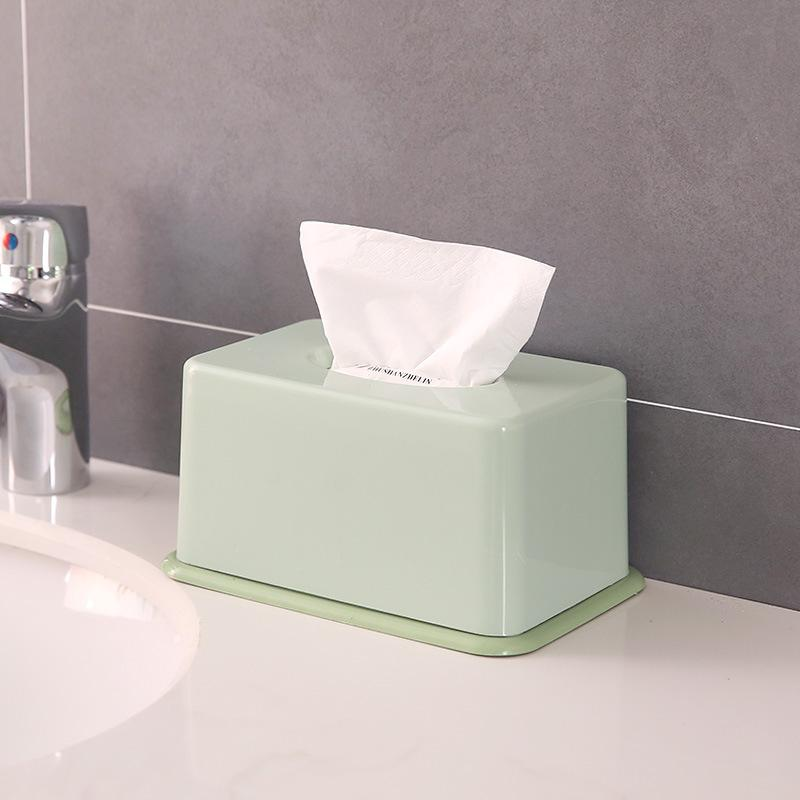 Family Living Room Simple Plastic Tissue Box Dining Table Napkin Storage Extraction Paper Box