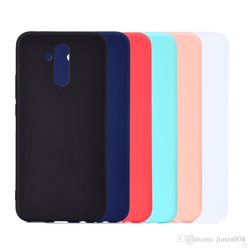 Huawei Mate 20 Lite Için şeker Renk Kapak Kılıf Yumuşak TPU Ultrathin Tasarımcı Mobie Telefon Kılıfları Capinha