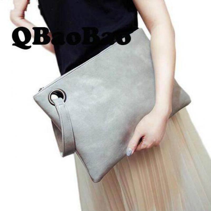 كوريا مغلفات جديدة مخلب محافظ كبيرة يوم براثن بو الرجعية حقيبة اليد بسيطة عارضة المرأة حقيبة محفظة