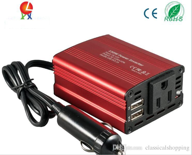 Dual USB 12V to 110V 220v car inverter 150W 200W automotive supplies