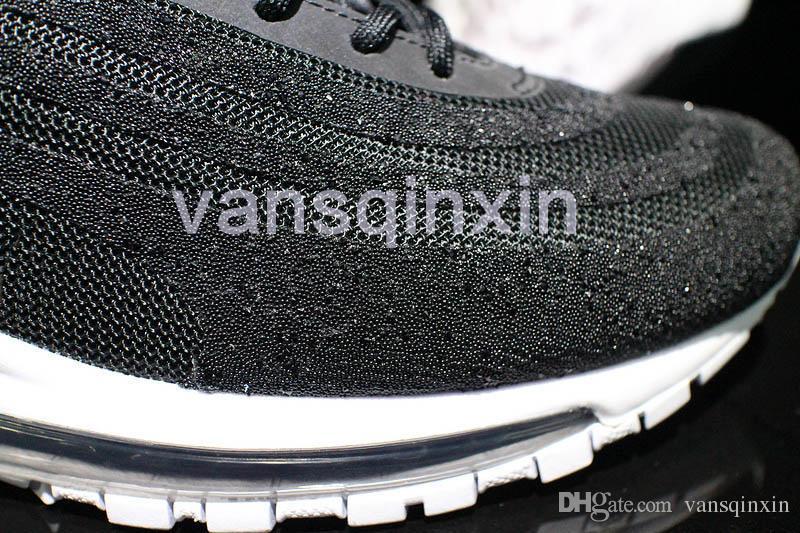 """Nike Silver Swarovski X Wmns Air Max 97 Lx Bullet"""" Sneakers Size US 9 Regular (M, B)"""
