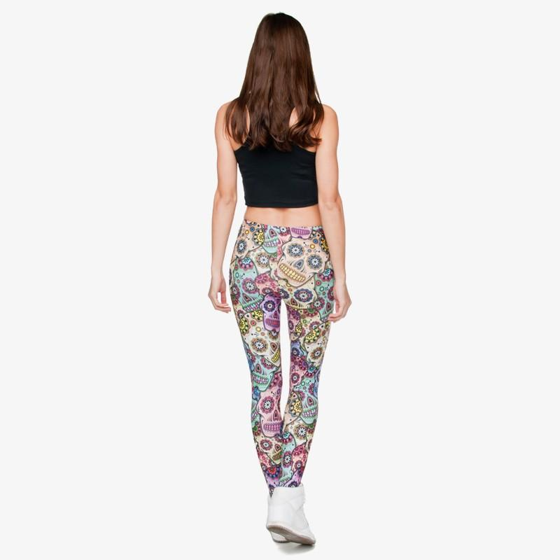 125c9a49e6a156 Classic 3D Print Mexican Skull Leggings Women Causal Jeggings Sexy Leggins  Tayt Fitness Legging Calzas Mujer