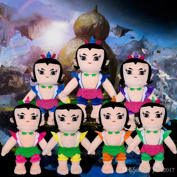 50cm Lovely New Cute Cartoon Calabash Brothers doll Soft Plush toys gift for children Christmas Gift Dolls