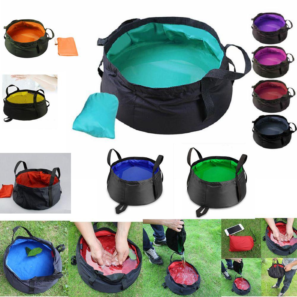 9 colori portatile pieghevole lavabo all'aperto secchio pieghevole secchio water pot vaso per campeggio escursionismo vasca supplie aaa400