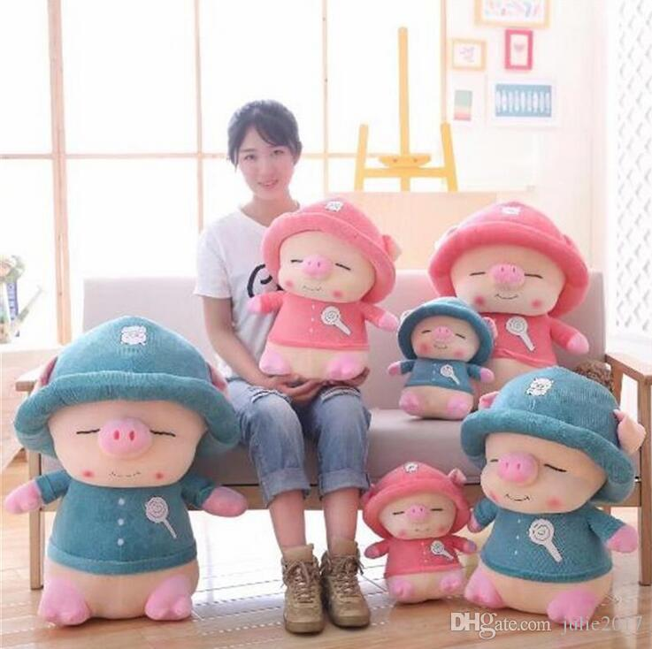 1PC Large Size Lovely&Cool Rogue Pig Stuffed Cotton Plush Doll Cute Animals Soft Toy Birthday Gifts For Children Baby