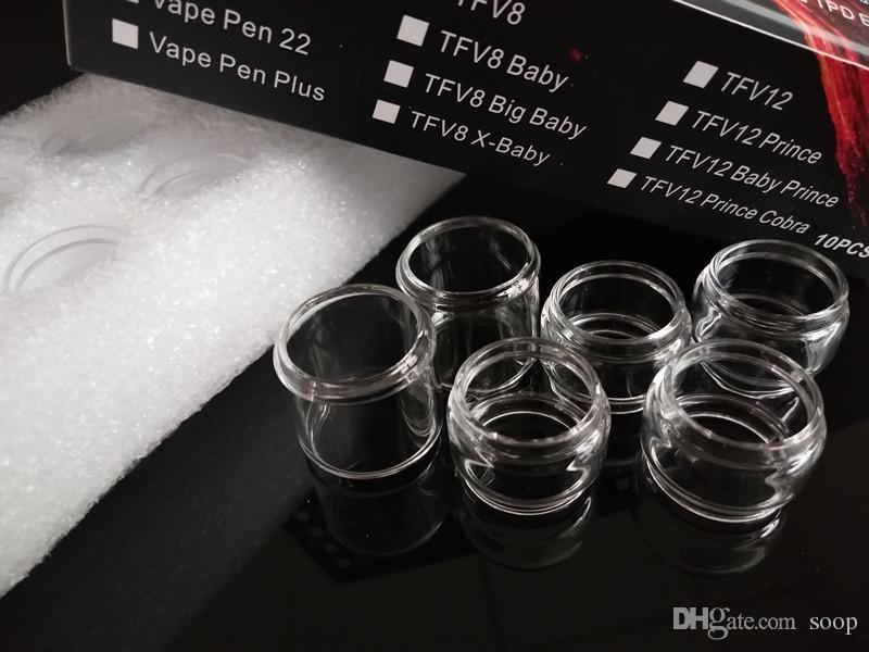 Gordo Estenda Tubo de Vidro de Substituição de Expansão para TFV8 Bebê V2 RBA TFV12 Grande Príncipe Do Bebê