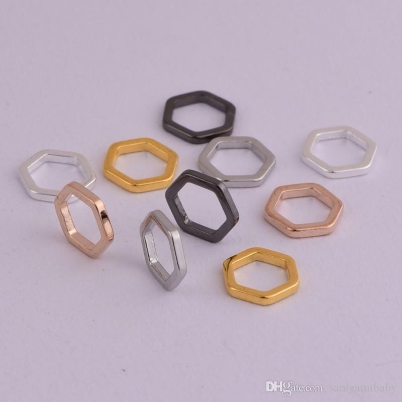Marcatore a nido d'ape a punta esagonale 100 pezzi / lotto Fitting per ferri da maglia fino a 7mm 5 colori