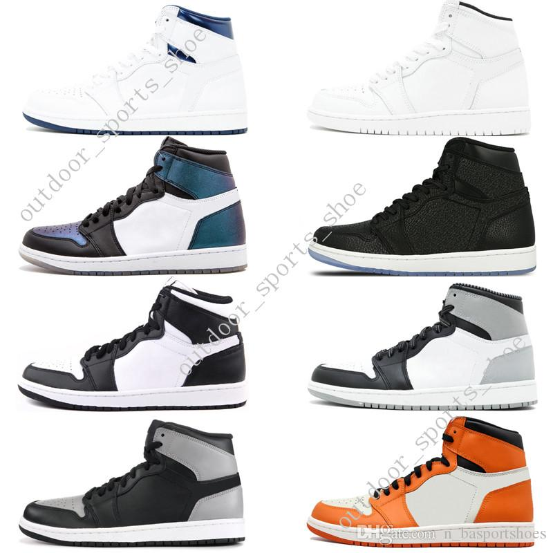 2018 1s OG 1 ТОП 3 мужская баскетбольная обувь дань уважения к дому запрещена разводят ноги Чикаго игры Royal Blue Gold Pass Факел Мело мужчины спортивные кроссовки