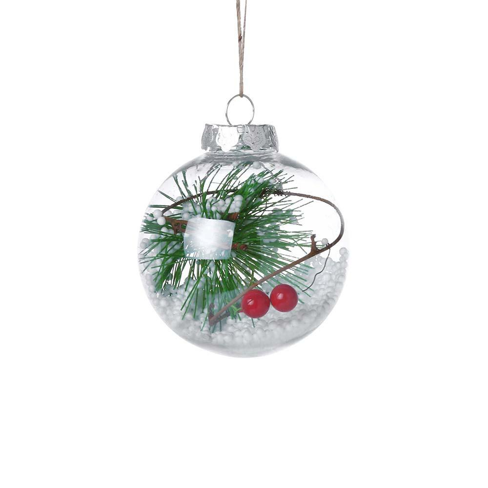 Christmas Tree Pendant Hanging Beautiful fill inside the ball Home Ornament Christmas Decoration Ball