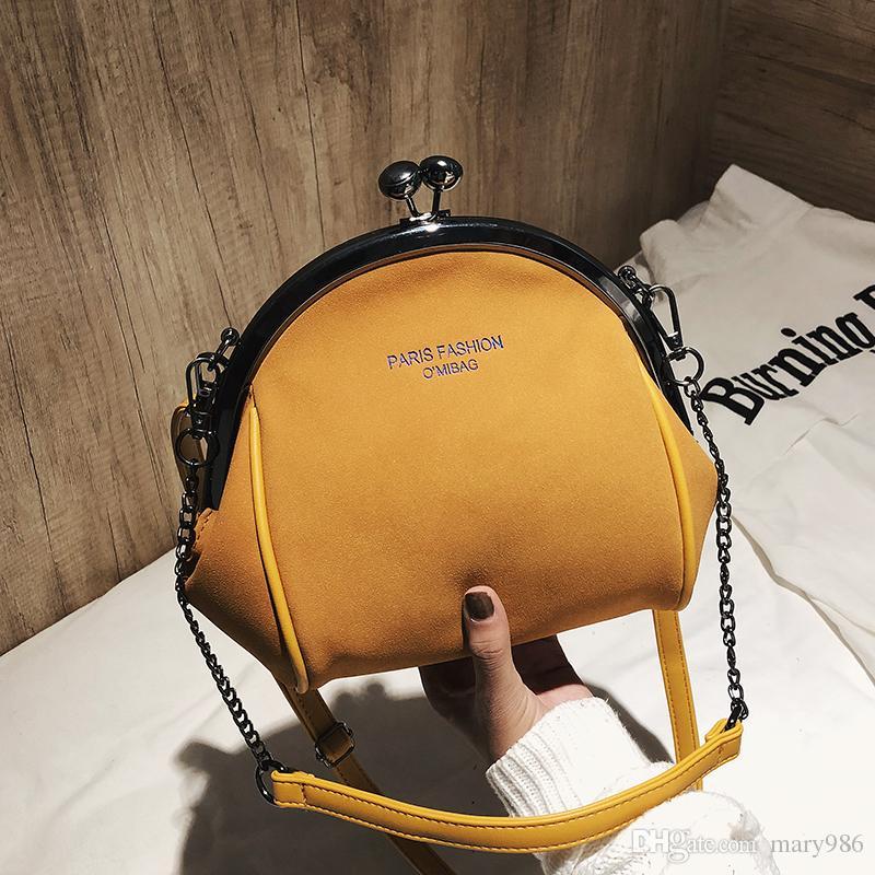 Clip sac à bandoulière cuir femmes chaîne sacs sacs à main de haute qualité dames sac à bandoulière femme sacs de messager omi / 9