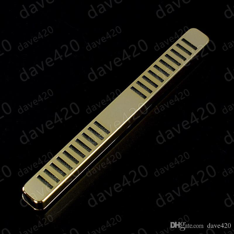 1 UNIDS Nuevo Diseño Color Dorado Blanco metal acero oxidado Tipo de Barra Tabaco Humidor de Cigarro Humidificador Humidificador de Cigarros Accesorios de humo de cigarro
