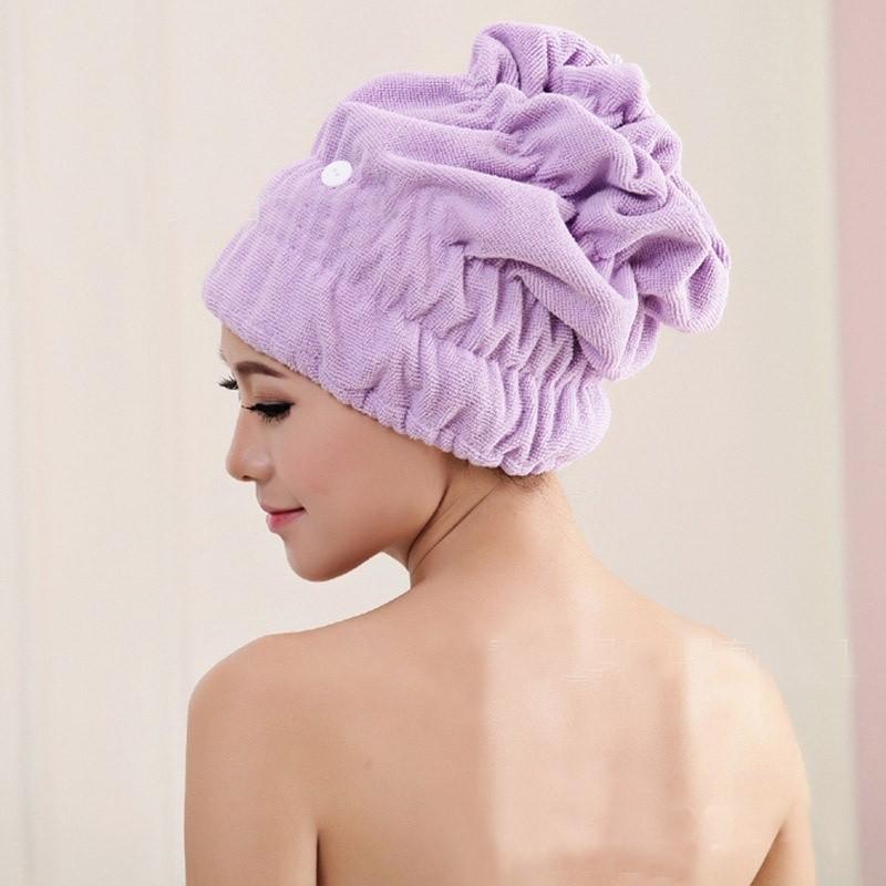 1 PC Mikrofibra Miękkie Włosy Suszenie Ręcznik Włosy Szybki Suszenie Wrap Czapka Cute High Absorbujące Water Bath Hat Ręcznik Domowa łazienka