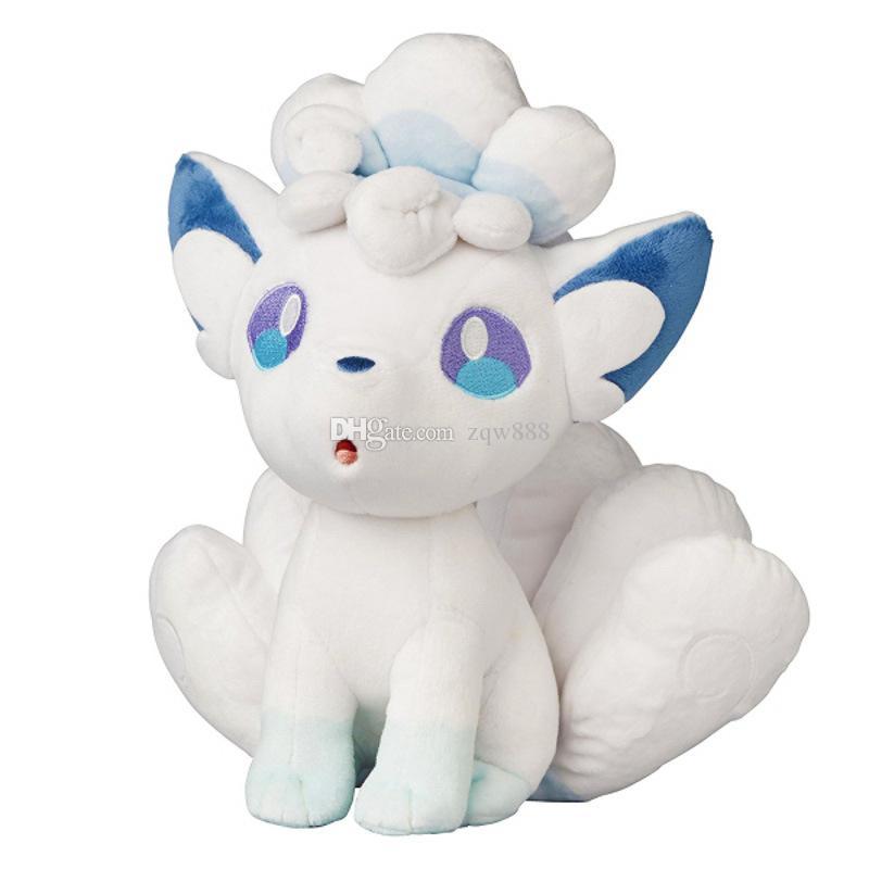 Hohe Qualität aus 100% Baumwolle 8inch 20cm Sonne und Mond Alola Vulpix Plüsch Puppe Plüschtiere Spielzeug Urlaub Geschenke NOPO046