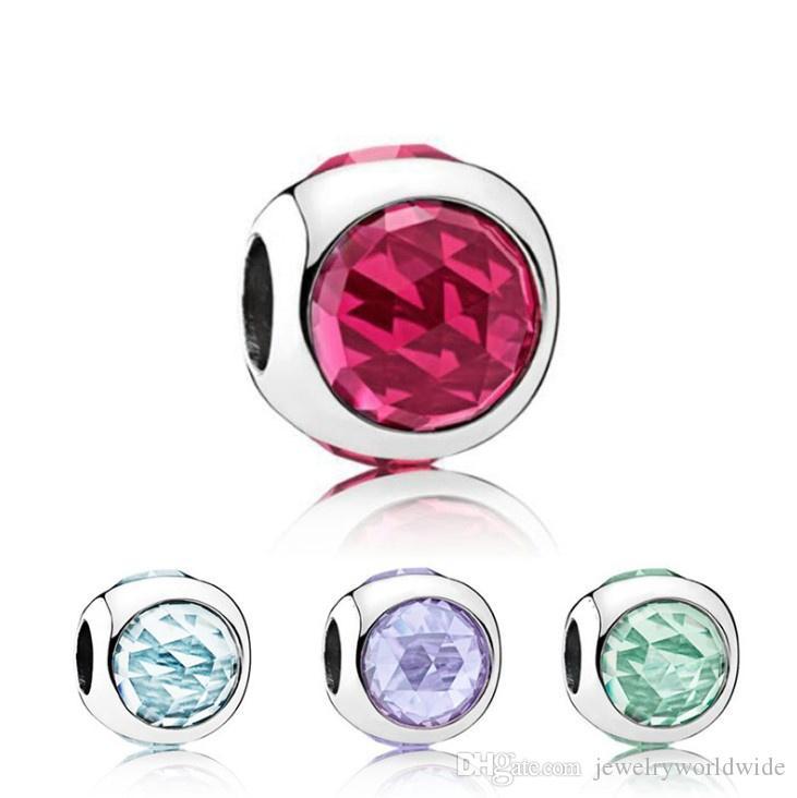 Forma rotonda con cristallo strass fascino perlina grande foro moda donna moda gioielli stile europeo per collana braccialetto di Pandox fai da te panza005-69