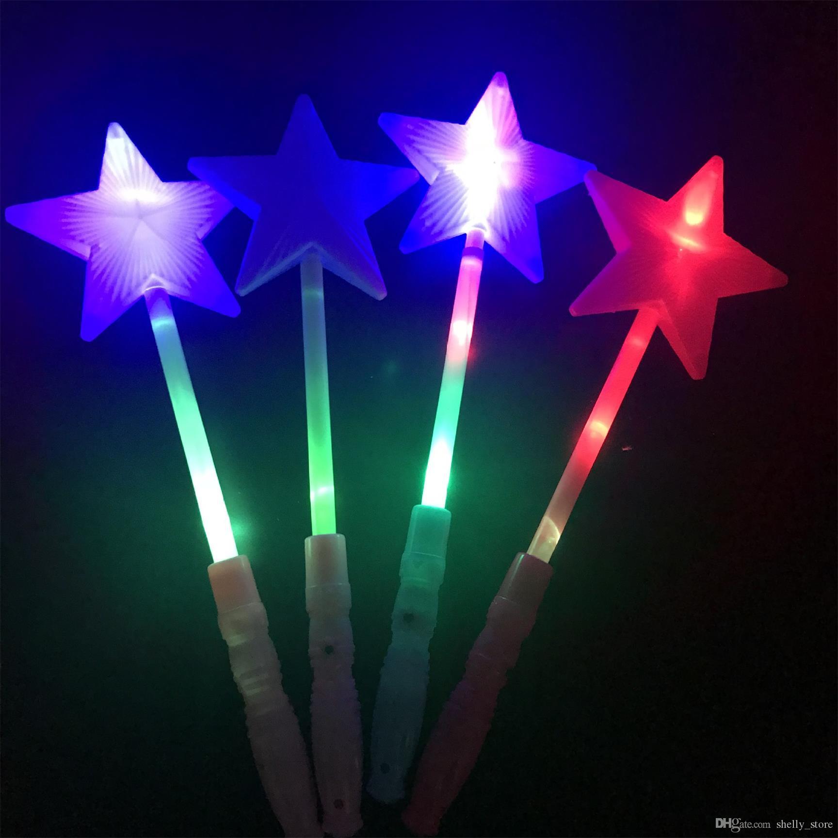 Светодиодные светящиеся палочки, пятиконечная звезда, светящиеся в темноте игрушки для концертных выступлений