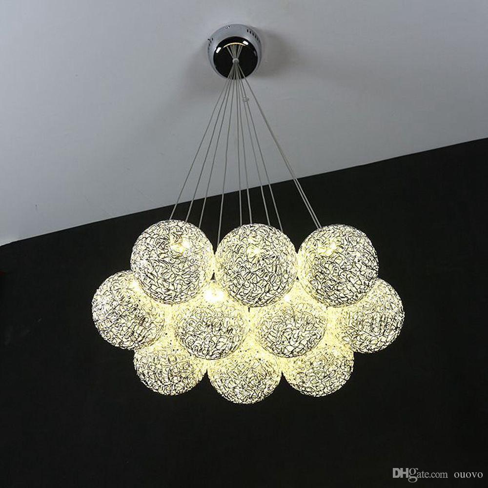 Filo di alluminio moderno Lampada a sospensione a soffitto globale Sala da pranzo Sala da pranzo Lampade a sospensione Lampade a sospensione per soggiorno