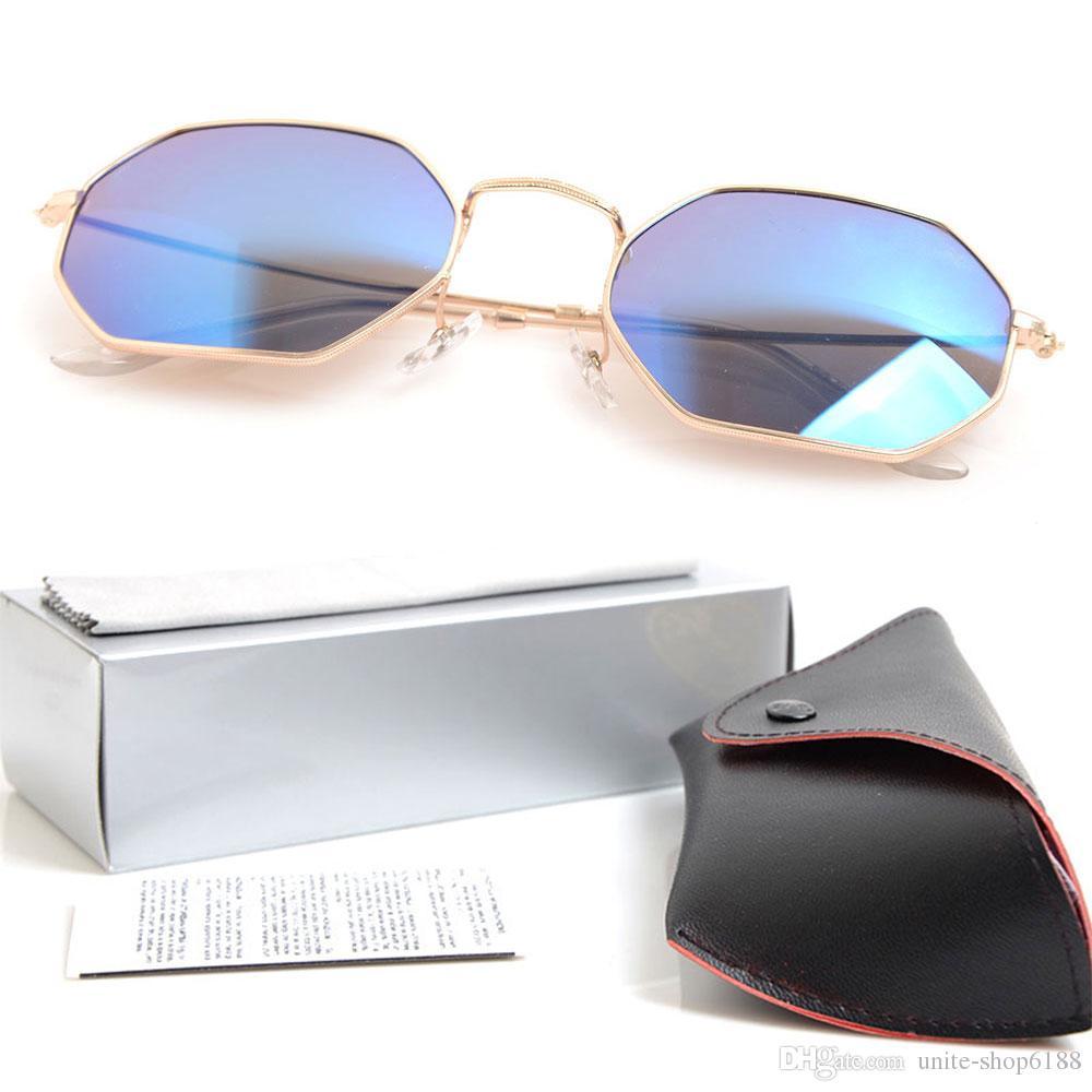 boîte Unisexe Lunettes De Soleil Polarisées 100/% Protection UV Classique Carré Lunettes de soleil