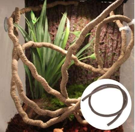Искусственная виноградная лоза рептилия Box Case украшения ящерица ротанга 1 м изгиб растительный орнамент-m18