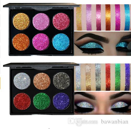 Diamond Golden Color Powder Glitter Eye Shadow Palette Shiny Eyeshadow Palette Makeup To Faced Cosmetics free shipping