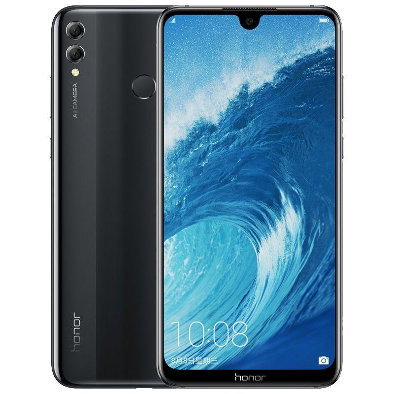 원래 화웨이 명예 8X 최대 4 그램 LTE 휴대 전화 4 기가 바이트 RAM 64 기가 바이트 128 기가 바이트 ROM Snapdragon 636 Ocra 코어 7.12 인치 전체 화면 16MP 스마트 휴대 전화