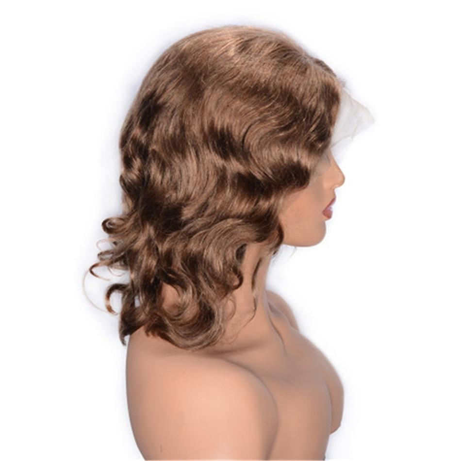 Brazilian Lace Front Wigs with Baby Hair 8# Glueless Lace Wig Pre Plucked Curly Human Hair Wig