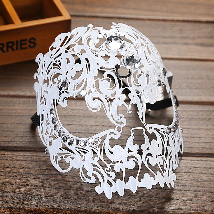 Metal Masquerade masks Elegant Metal Laser Eye Cut Venetian Halloween Ball Masquerade mask for Party Cosplay Festival Show