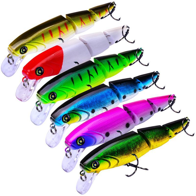 New BASS SHAD ALIVE Diver Fishing bait 11.3cm 15g 2 Segments swimbait Live Target Hard lure