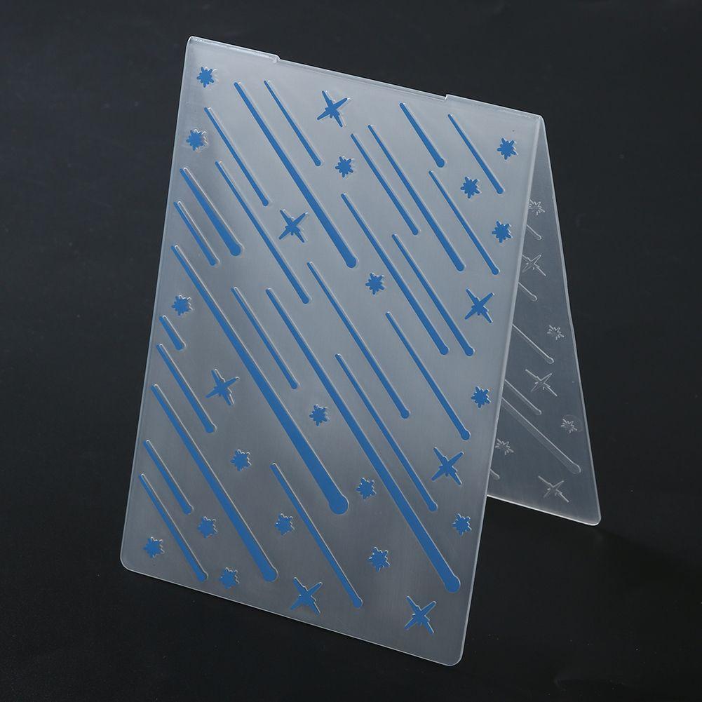 Plastic Wood Grain Embossing Folder Template Paper Scrapbooking DIY Craft Decor