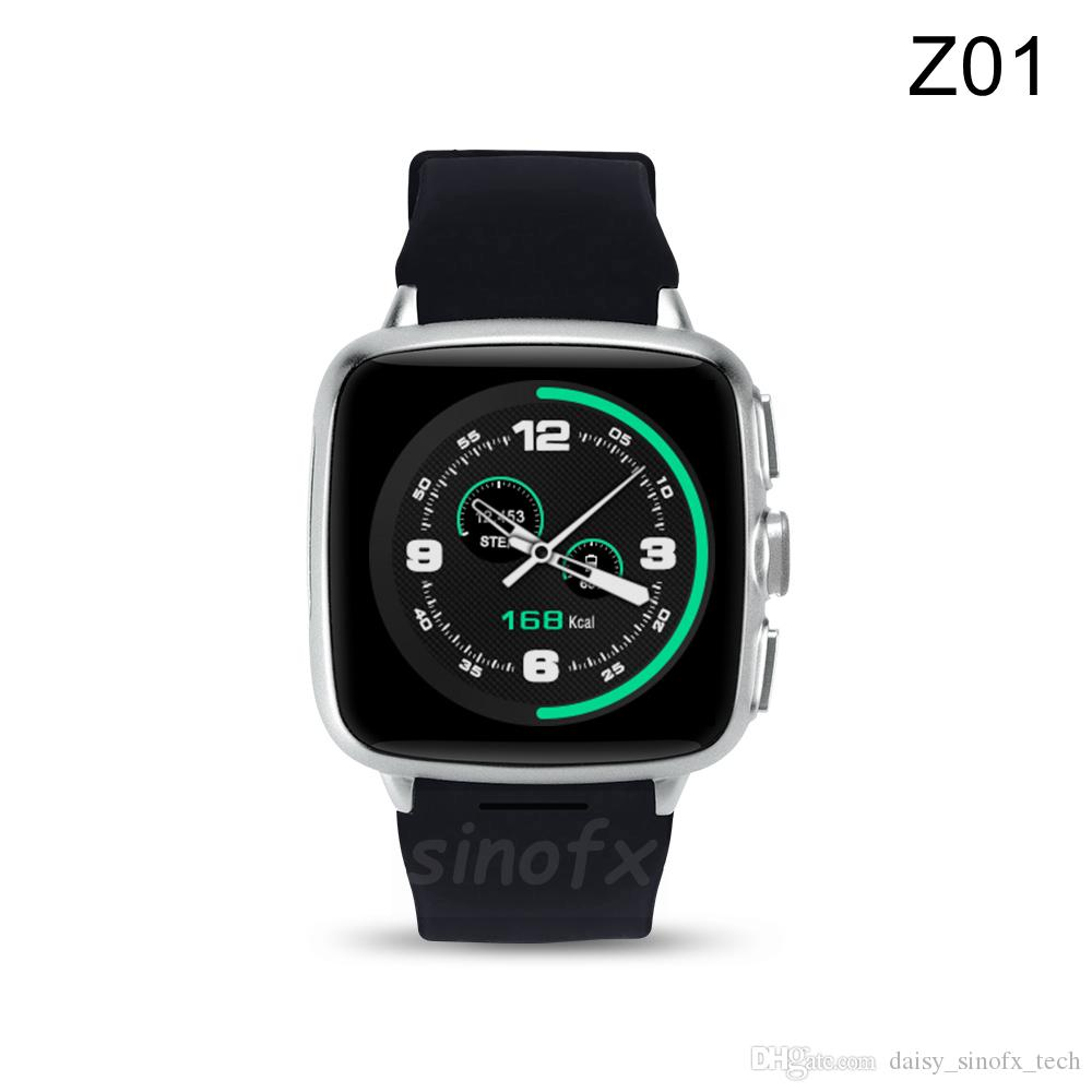 3G Android watch phone Z01 Android 5.1 Bluetooth Smart Watch 512M RAM 4G ROM WiFi GPS SIM fotocamera GPS Cardiofrequenzimetro