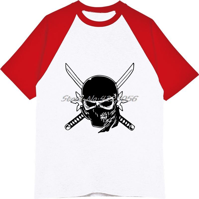 Yenilik Tasarım Kafatası T-shirt erkek Raglan Kollu Pamuk O-Boyun Serin T Gömlek Streetwear Klasik Harajuku Tees Tops