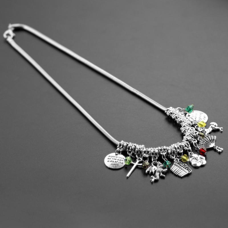 Feimeng Jewelry Chinese Legend Heroine Mulan Choker Naszyjnik Miecz Wentylator Koraliki Kryształowe Naszyjnik Dla Kobiet Mody Akcesoria