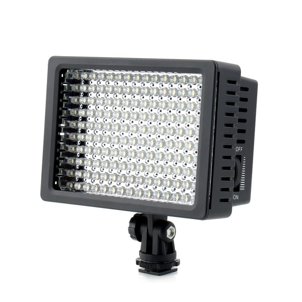 Alta Potência Lightdow LD-160 160 LED de Vídeo Luz Da Câmera Filmadora Lâmpada com Três Filtros para Canhão Nikon Pentax Fujifilm Câmeras