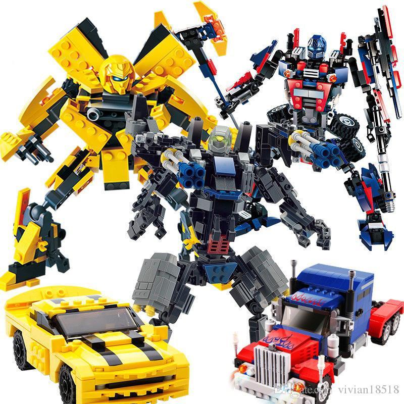 변형 로봇 조립 빌딩 블록 플라스틱 장난감 교육 장난감, 어린이 다이아몬드 맞춤법 플러그 플라스틱 빌딩 블록 공룡 t