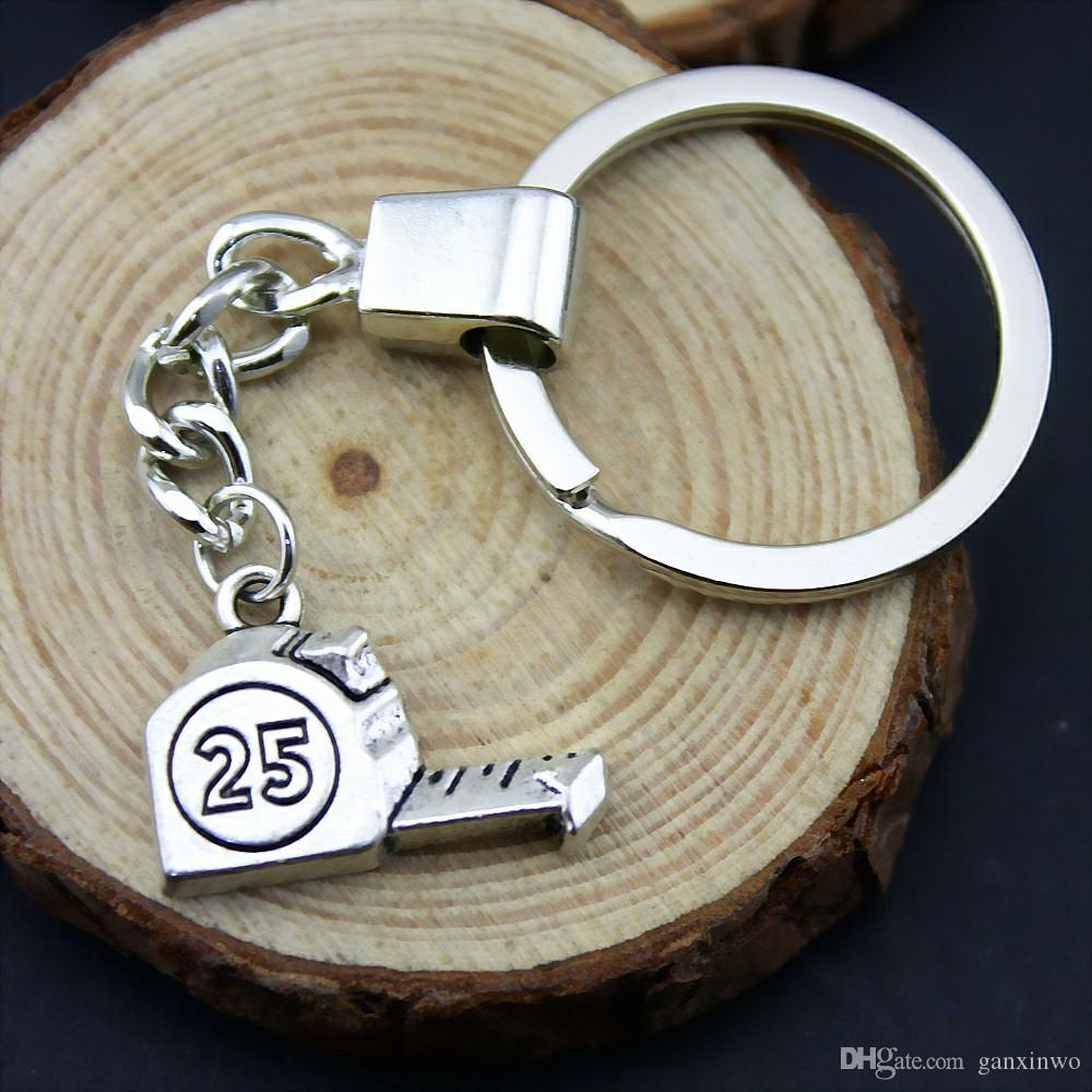 6 Pieces Key Chain Women Key Rings For Car Keychains With Charms Tape Measure 23x16mm
