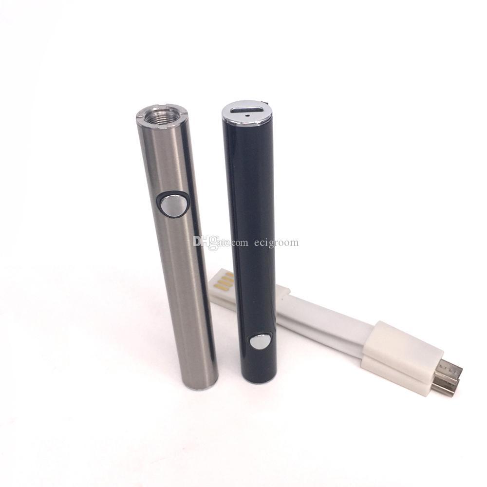 Popular 380 mah pluma de vape precalentamiento de voltaje variable batería o cartuchos de pluma VV vape pluma PK Mix2 LO esmart bud touch Para aceite de trituración