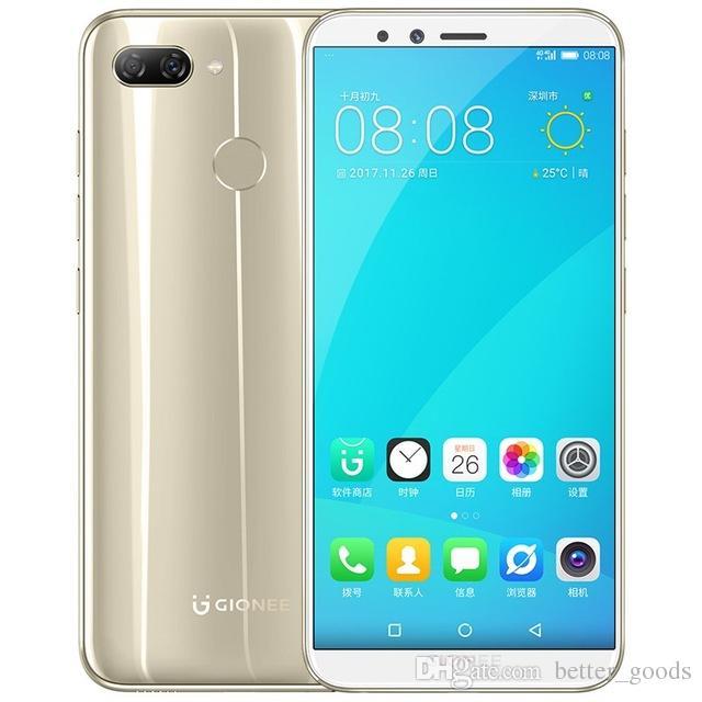 الأصلي gionee f6 4 جرام lte الهاتف الخليوي 3 جيجابايت ذاكرة 32 جيجابايت rom أنف العجل 8937 الثماني النواة 5.7 بوصة شاشة كاملة 13mp بصمة معرف الهاتف المحمول الذكي