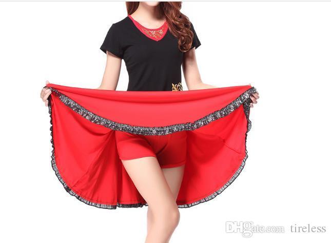 Verão mais recente deste ano novo meados de idade vestido de dança quadrado terno saia de manga curta top com saia inferior.