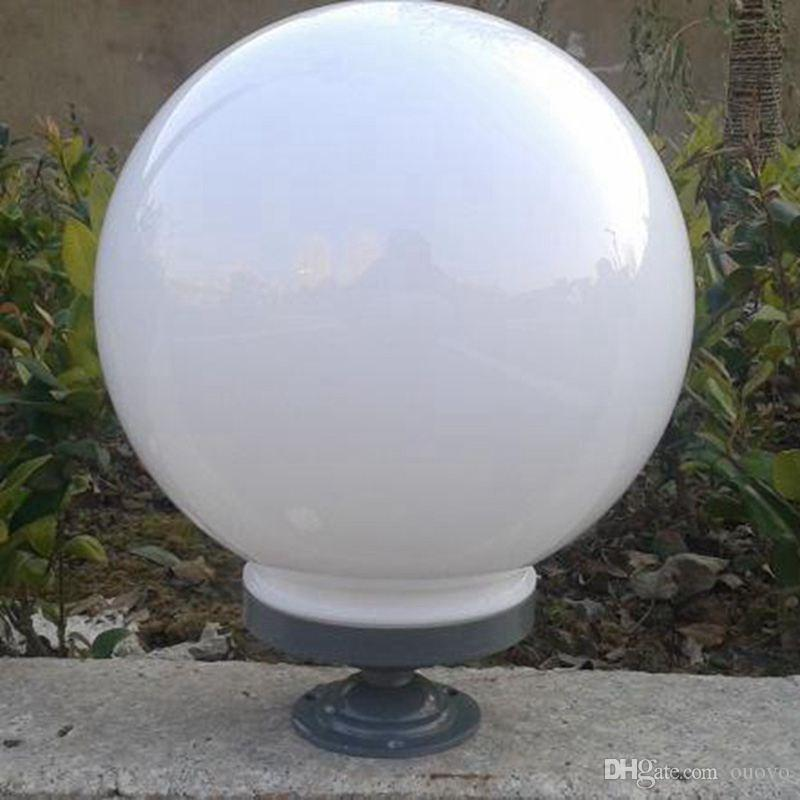 Outdoor IP44 Ganek Lampa stołowa Wateroodporna Garden Gate Korytarz Biała Kula akrylowa Chaper Lampa Antirust Balkon Korytarz Filar Lampa