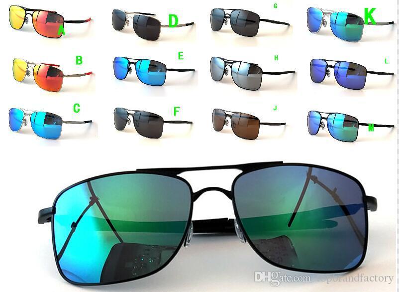 2018 Brand New Metal 4124 Óculos De Sol UV400 Lente Polarizada Esportes Óculos de Sol Moda Tendência Ciclismo Eyewear 12 Cores