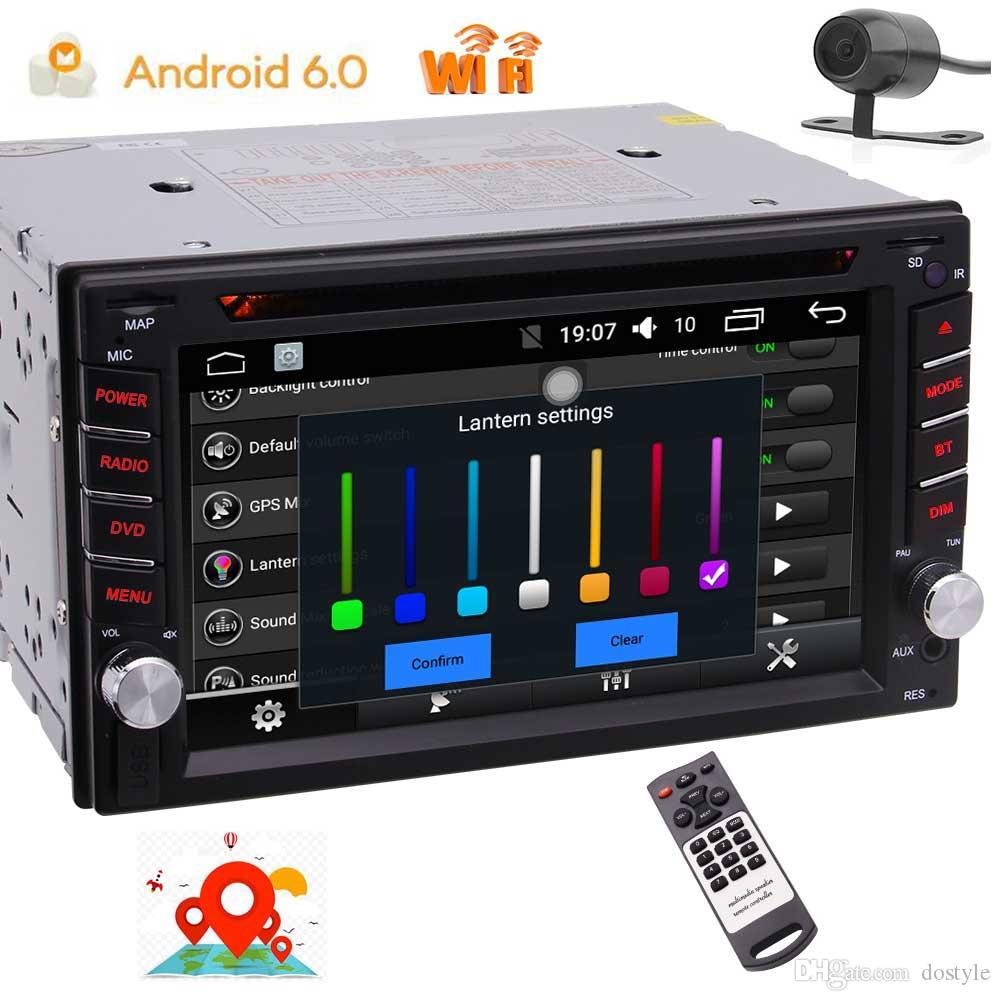 EinCar Quad Core Doble 2D en Android6.0 Sistema estéreo del coche en tablero Coche Reproductor de DVD FM / AM / RDS Radio / Volante Control / GPS