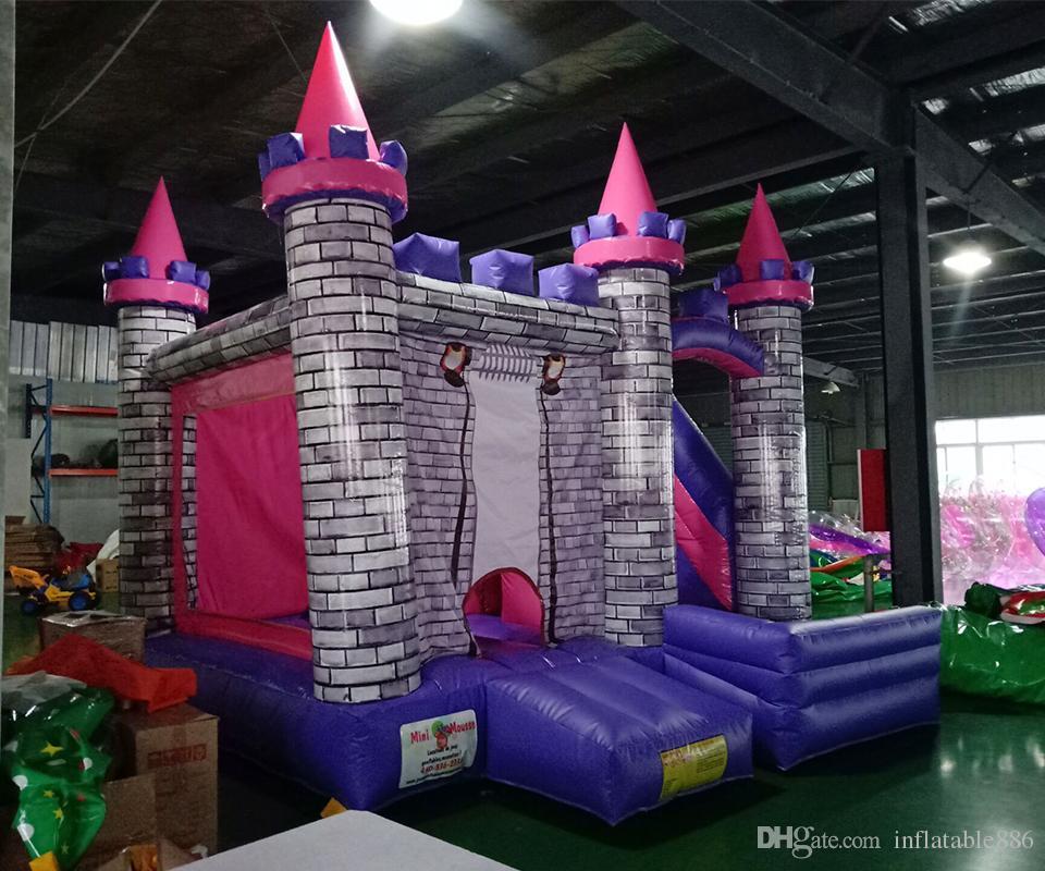 نفخ أميرة القلعة نفخ الحارس الترامبولين منزل القفز مع الشريحة للأطفال حرية الملاحة